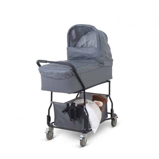 BabyTrold - Krybbe Skai med opbevaringskurv, Grå