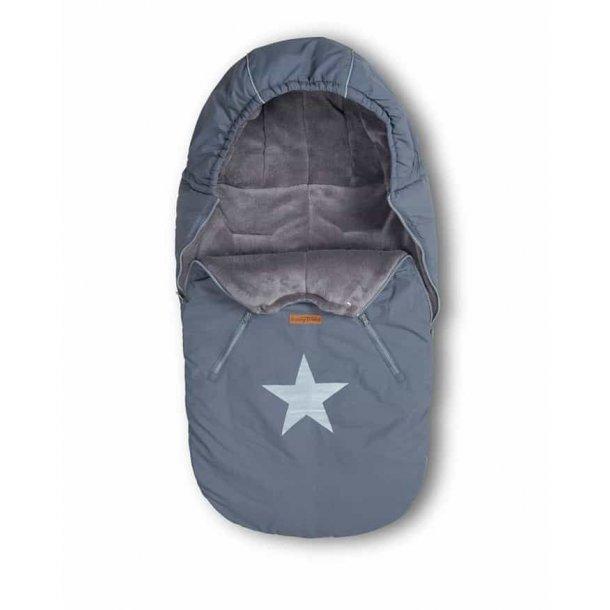 BabyTrold - Kørepose STAR Denim Grå
