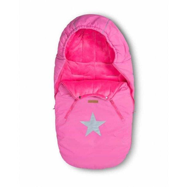BabyTrold - Kørepose STAR Pink