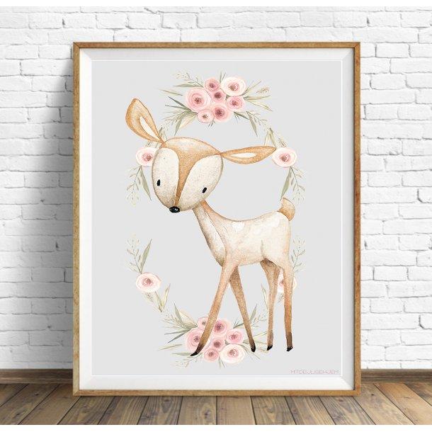 MitDejligeHjem - Børne Plakat Bambi