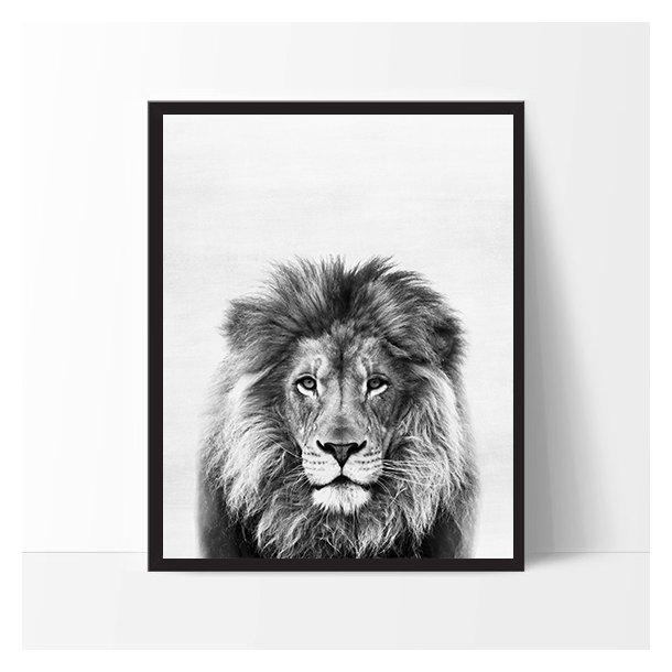 MitDejligeHjem - Børne Plakat Løve