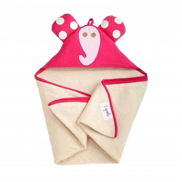 3 Sprouts - Baby Håndklæde med Hætte 76cm X 76cm, Elephant