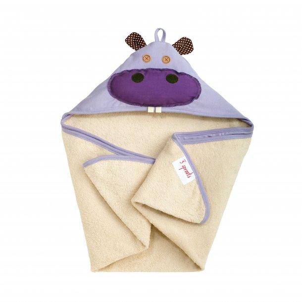 3 Sprouts - Baby Håndklæde med Hætte 76cm X 76cm, Hippo