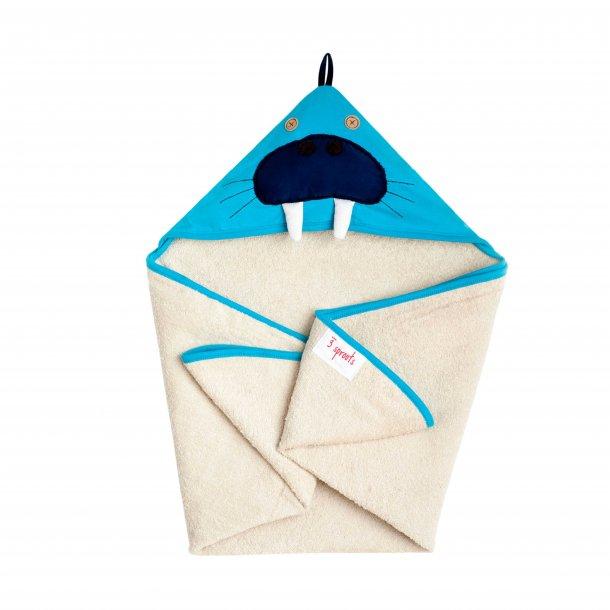 3 Sprouts - Baby Håndklæde med Hætte 76cm X 76cm, Walrus