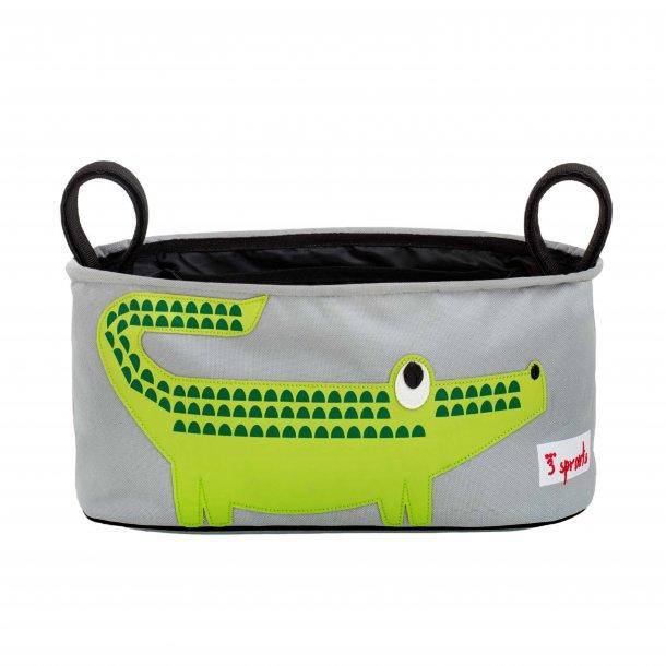 3 Sprouts - Opbevaringskurv til klap- og barnevogn (Stroller organizer), Crocodile