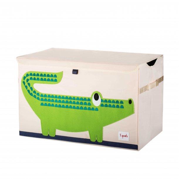 3 Sprouts - Opbevaringskasse med låg, Crocodile