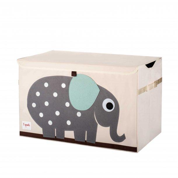 3 Sprouts - Opbevaringskasse med låg, Elephant