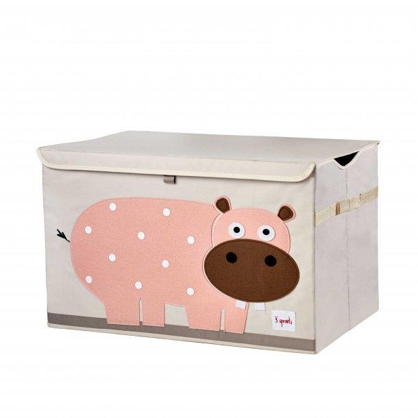 3 Sprouts - Opbevaringskasse med låg, Hippo