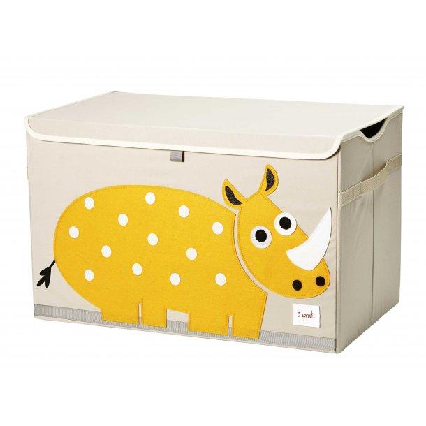 3 Sprouts - Opbevaringskasse med låg, Rhino