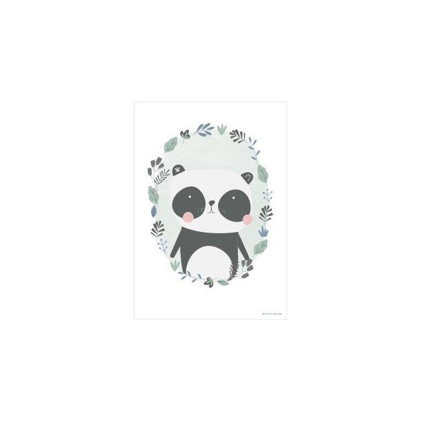 LITTLE DUTCH - Plakat A3, PANDA MINT, 2 SIDET