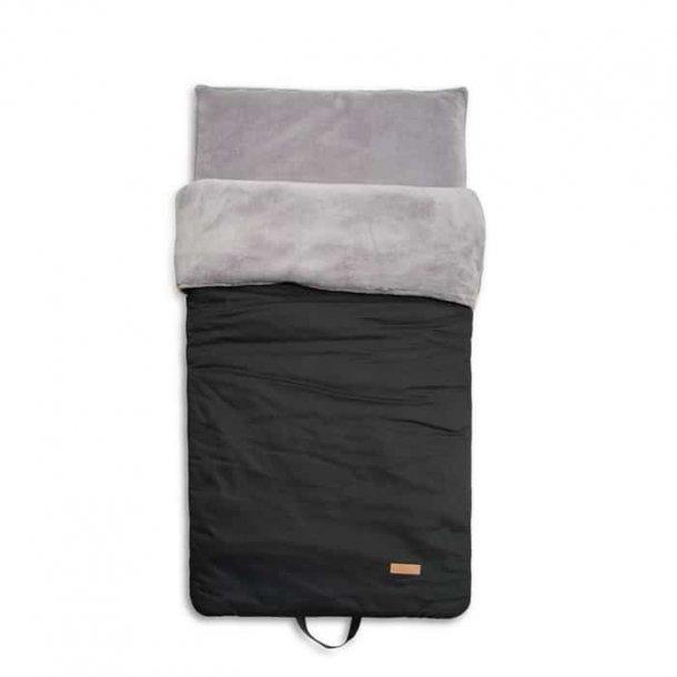 BabyTrold - Sovepose Børnehave med isolerende underlag, Sort Grå
