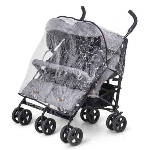 BabyTrold - Paraplyklapvogn Tvilling Regnslag