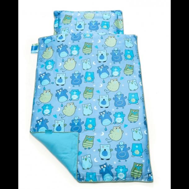 BabyTrold - Baby Sengetøj sæt 70x100 Ugler Blå