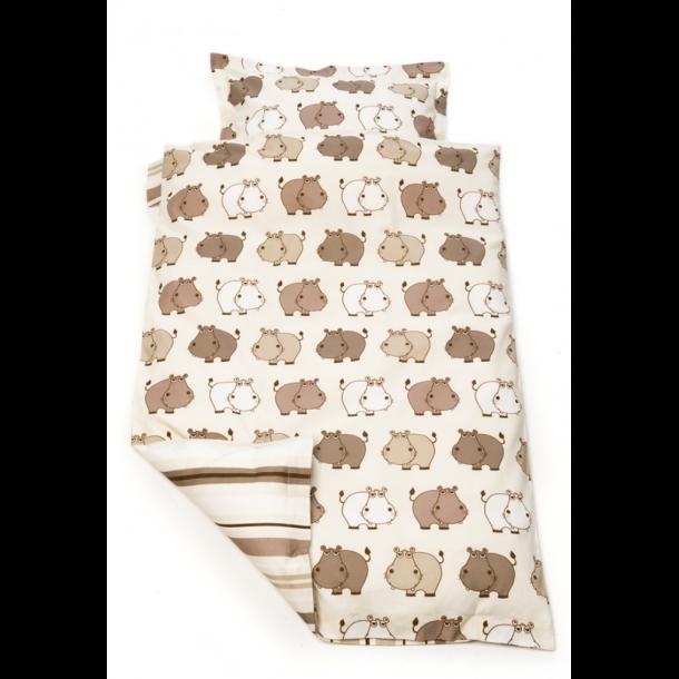 BabyTrold - Junior Sengetøj sæt 100x140 Hippo