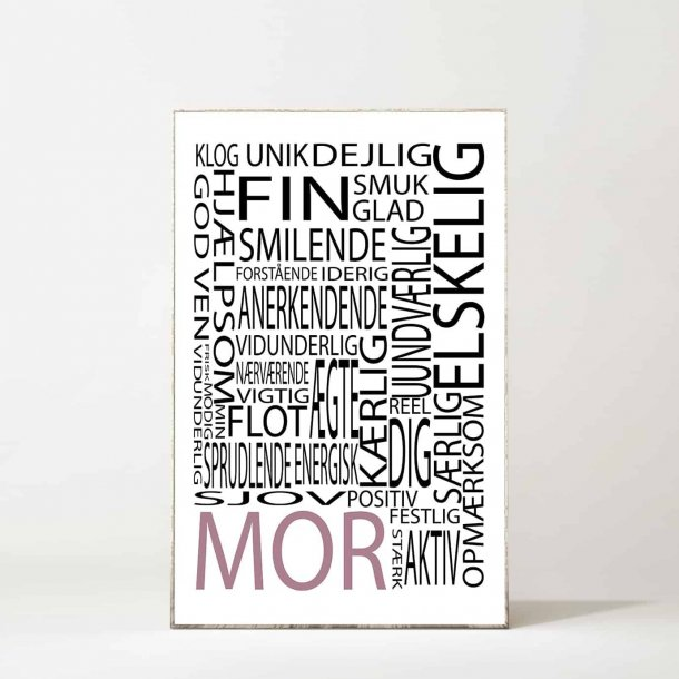 MitDejligeHjem - Børne Plakat Mor