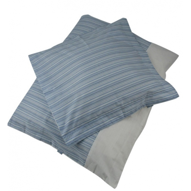 BabyTrold - Junior Sengetøj sæt 100x140 Strib Blå